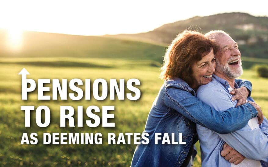 Pensions Rise as deeming rates fall